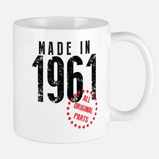 Made In 1961, All Original Parts Mugs
