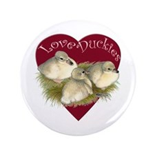 "Love Duckies 3.5"" Button"