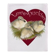Love Duckies Throw Blanket