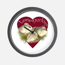 Love Duckies Wall Clock