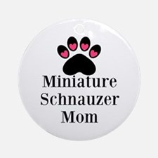 Miniature Schnauzer Mom Ornament (Round)
