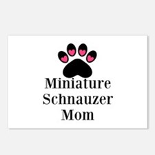 Miniature Schnauzer Mom Postcards (Package of 8)
