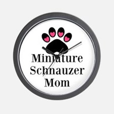 Miniature Schnauzer Mom Wall Clock