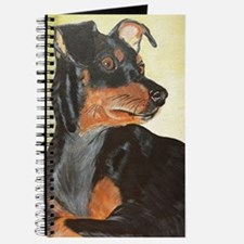Cute Miniature pinscher Journal