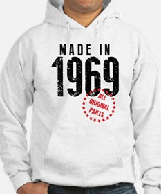 Made In 1969, All Original Parts Hoodie
