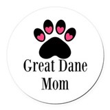 Great dane mom Round Car Magnets