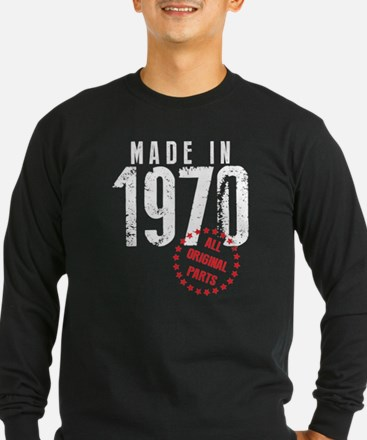 Made In 1970, All Original Parts Long Sleeve T-Shi