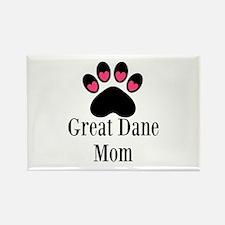 Great Dane Mom Paw Print Magnets