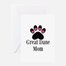 Great Dane Mom Paw Print Greeting Cards