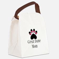 Great Dane Mom Paw Print Canvas Lunch Bag