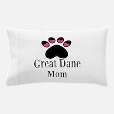 Great Dane Mom Paw Print Pillow Case