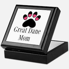 Great Dane Mom Paw Print Keepsake Box