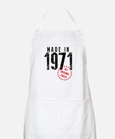 Made In 1971, All Original Parts Apron