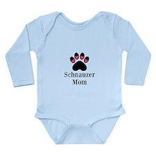 Schnauzer Mom Paw Print Body Suit