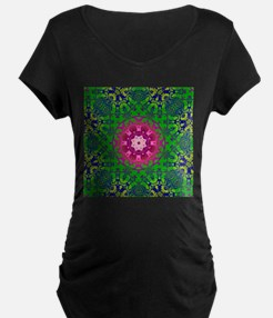 bold colorful green damask fuschia pattern Materni