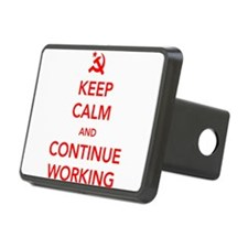 Keep Calm And Continue Working Hitch Cover