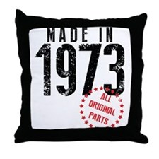 Made In 1973, All Original Parts Throw Pillow