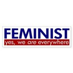 Feminist Everywhere bumper sticker