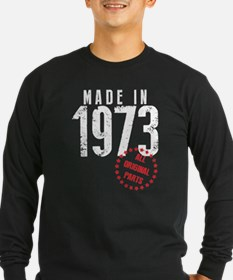 Made In 1973, All Original Parts Long Sleeve T-Shi