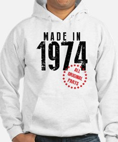 Made In 1974, All Original Parts Hoodie