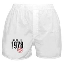 Made In 1978, All Original Parts Boxer Shorts