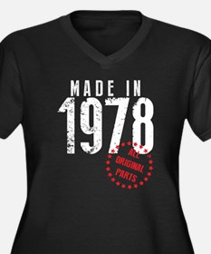 Made In 1978, All Original Parts Plus Size T-Shirt