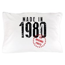 Made In 1980, All Original Parts Pillow Case