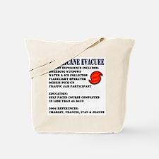 Hurricane Evacuee Tote Bag