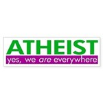 Atheist Everywhere bumper sticker