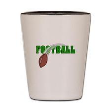 foot logo with ball swoosh Shot Glass