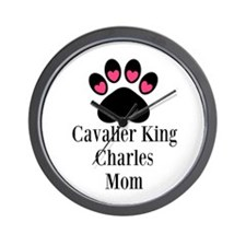 Cavalier King Charles Mom Wall Clock