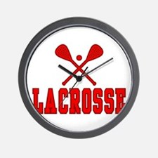 Lacrosse Red Wall Clock