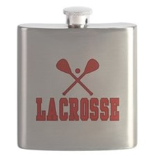 Lacrosse Red Flask
