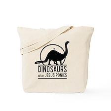 Dinosaurs Are Jesus Ponies Tote Bag