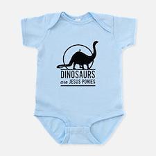 Dinosaurs Are Jesus Ponies Body Suit