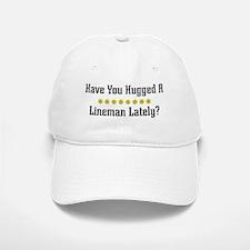 Hugged Lineman Baseball Baseball Cap