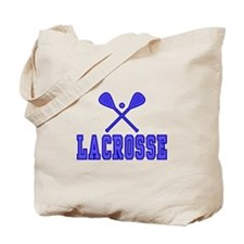 Lacrosse blue Tote Bag