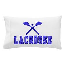 Lacrosse blue Pillow Case