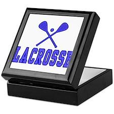 Lacrosse blue Keepsake Box