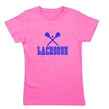 Lacrosse blue Girl's Tee