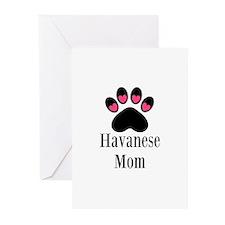 Havanese Mom Greeting Cards