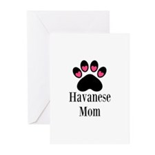 Havanese Mom Greeting Cards