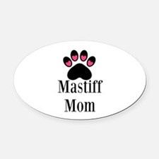Mastiff Mom Oval Car Magnet