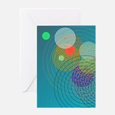 Ripple effect Greeting Cards