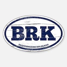 Breckenridge Old Paint Sticker (Oval)