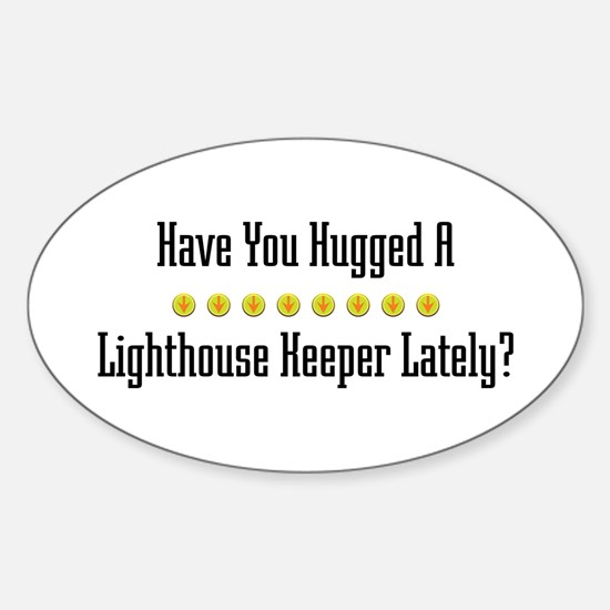 Hugged Lighthouse Keeper Oval Decal