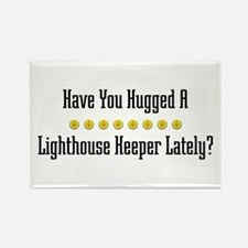 Hugged Lighthouse Keeper Rectangle Magnet