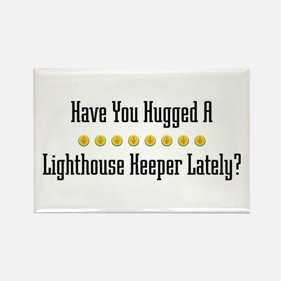 Hugged Lighthouse Keeper Rectangle Magnet