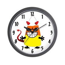 Evil Candy Corn Wall Clock