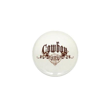 Cowboy Mini Button